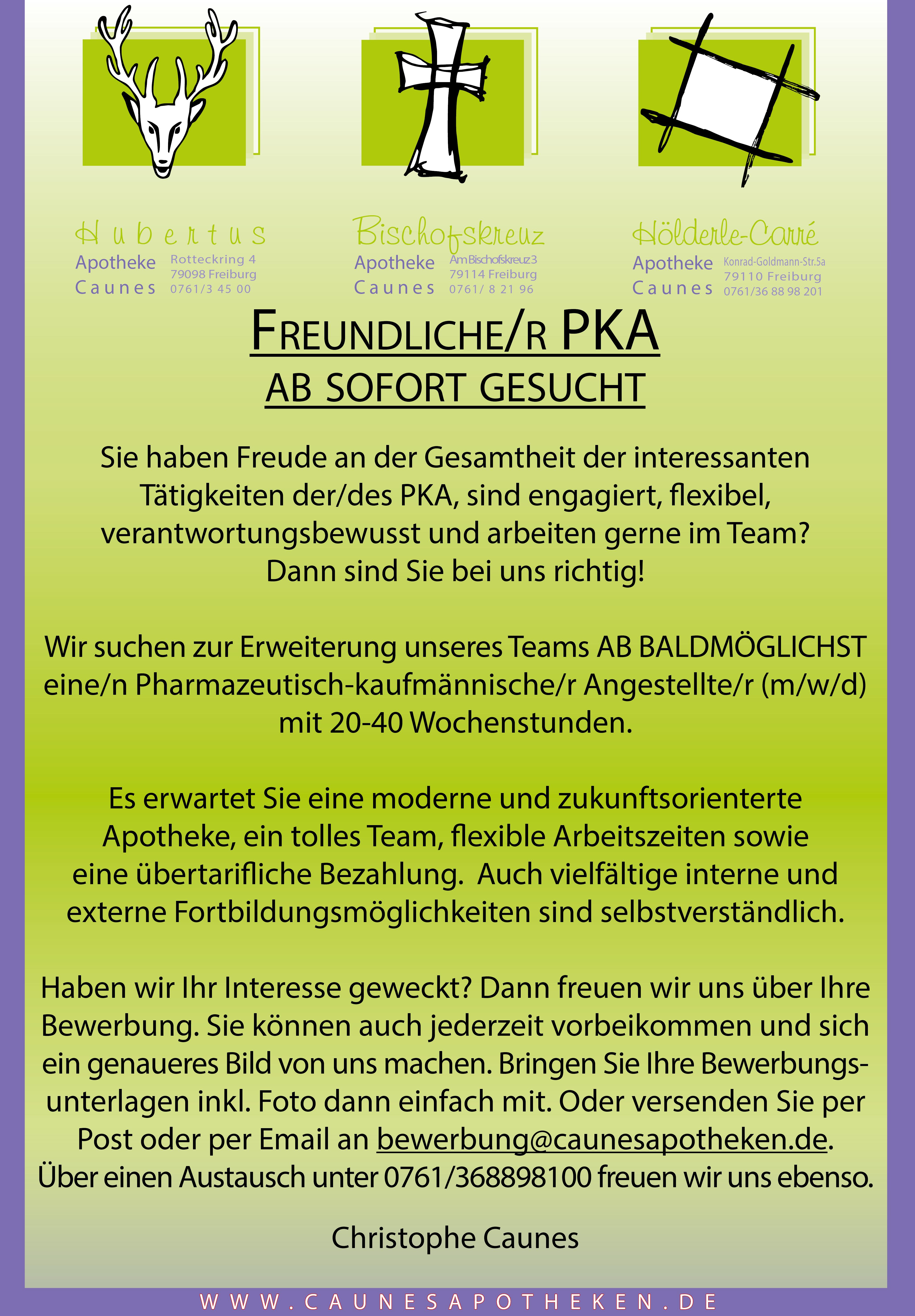 Stellenanzeige PKA FR 2020 87x125mm