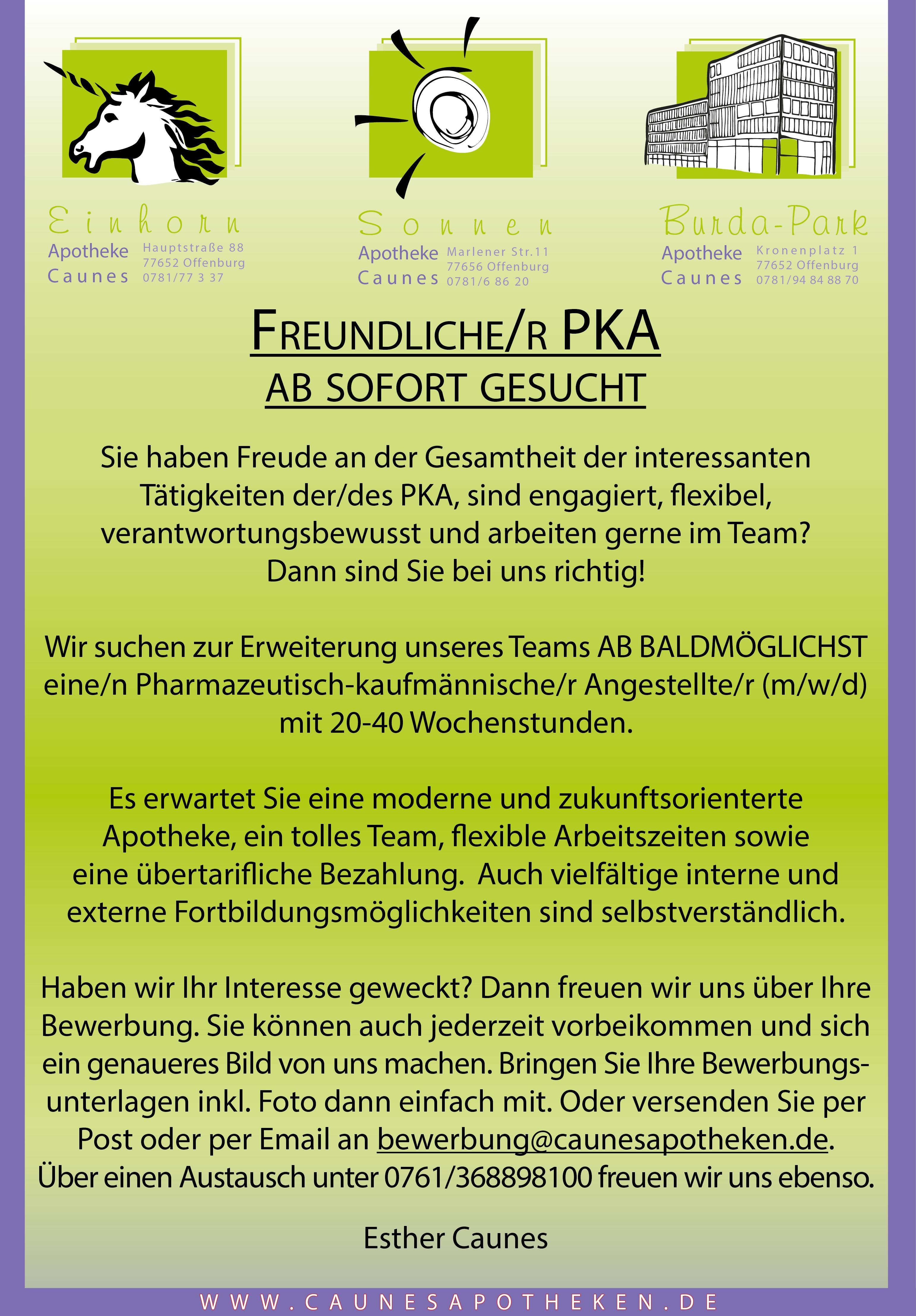 Stellenanzeige PKA OG 2020 87x125mm