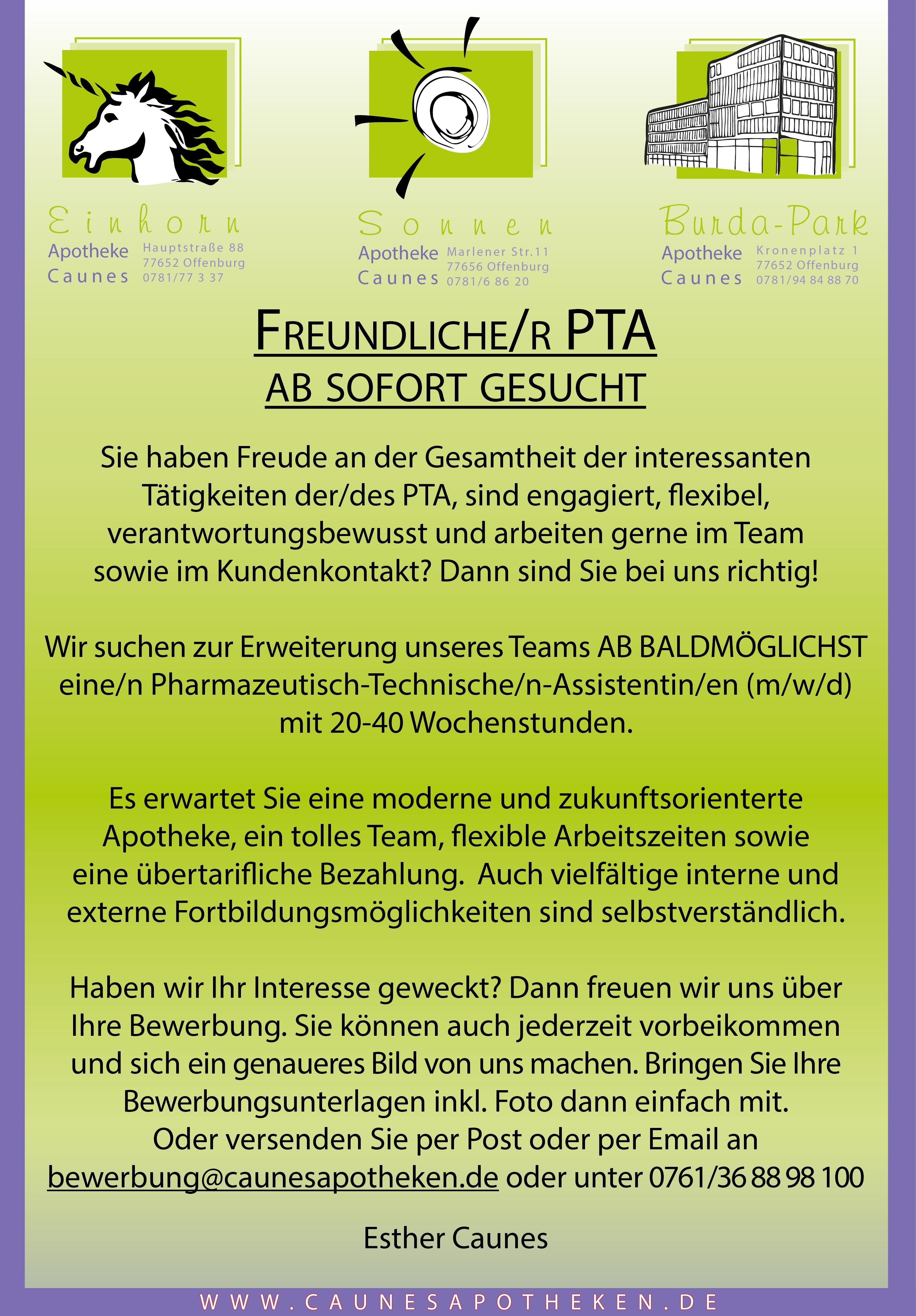 Stellenanzeige PTA OG 2020 87x125mm